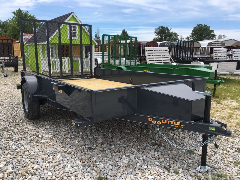 2019 Doolittle Trailer Mfg 77 x 12 SS SERIES Utility Trailer + SPARE TIRE MOUNT