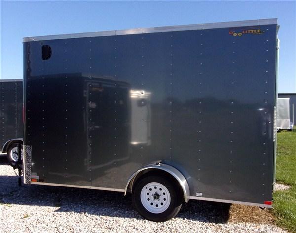 New 2019 Doolittle 7 x 12 Bullitt Rear Ramp Door Enclosed Cargo Trailer