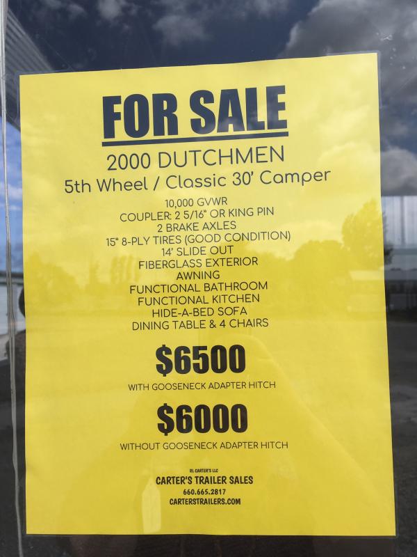 2000 Dutchmen Mfg 30' 5TH WHEEL/CLASSIC CAMPER
