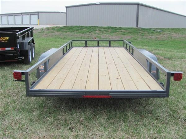 "New 2018 Doolittle 77"" x 16 Rally Sport Angle Iron Top Rail TA Utility Trailer w/ Spare Mount"