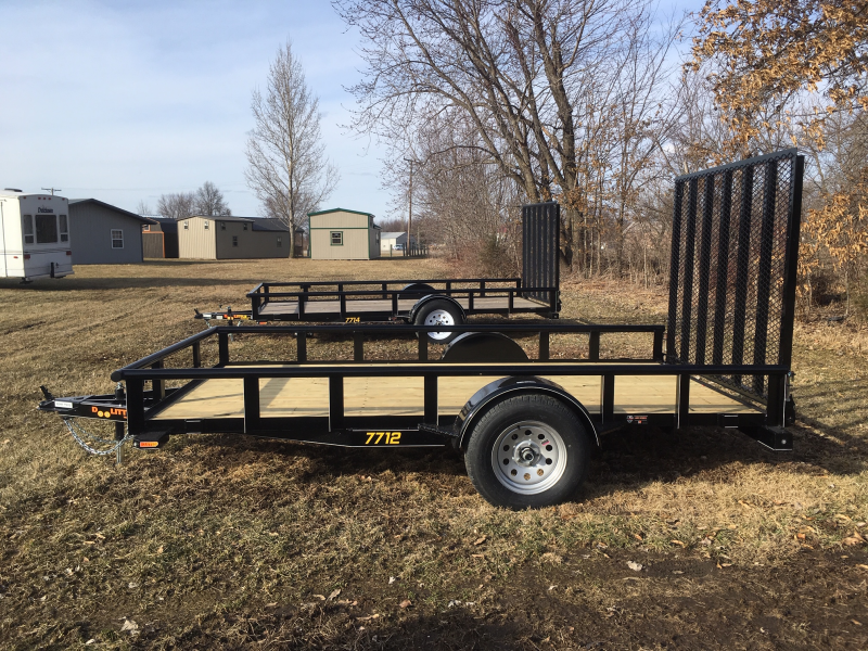 2019 Doolittle Trailer Mfg 77 x 12 PIPE RAIL Utility Trailer
