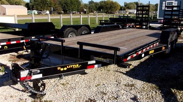 "New 2019 Doolittle 82"" x 18+2 14K Dove Xtreme Equipment Trailer"