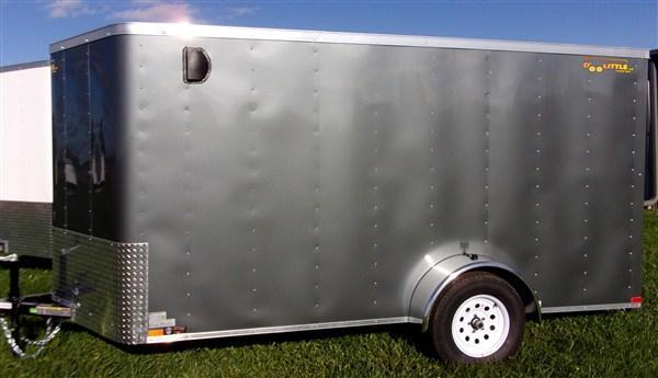 "New 2019 Doolittle 6 x 12 Rear Ramp Door Enclosed Cargo Trailer + 6"" EXTRA HEIGHT"