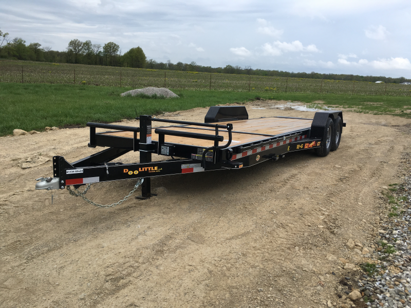 2019 Doolittle Trailer Mfg 82 x18 TILT + 6 STATIONARY Equipment Trailer 14K GVWR