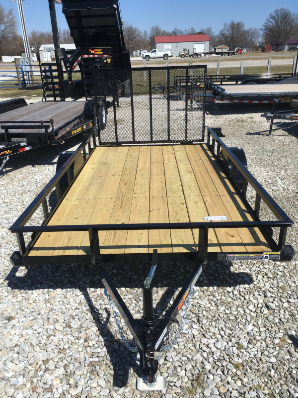 2019 Doolittle Trailer Mfg 77 x 12 ANGLE-IRON TOP RAIL Utility Trailer