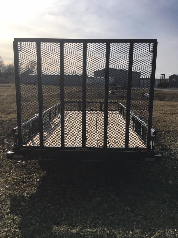 2019 Doolittle Trailer Mfg 77 x 14 Pipe Rail Utility Trailer