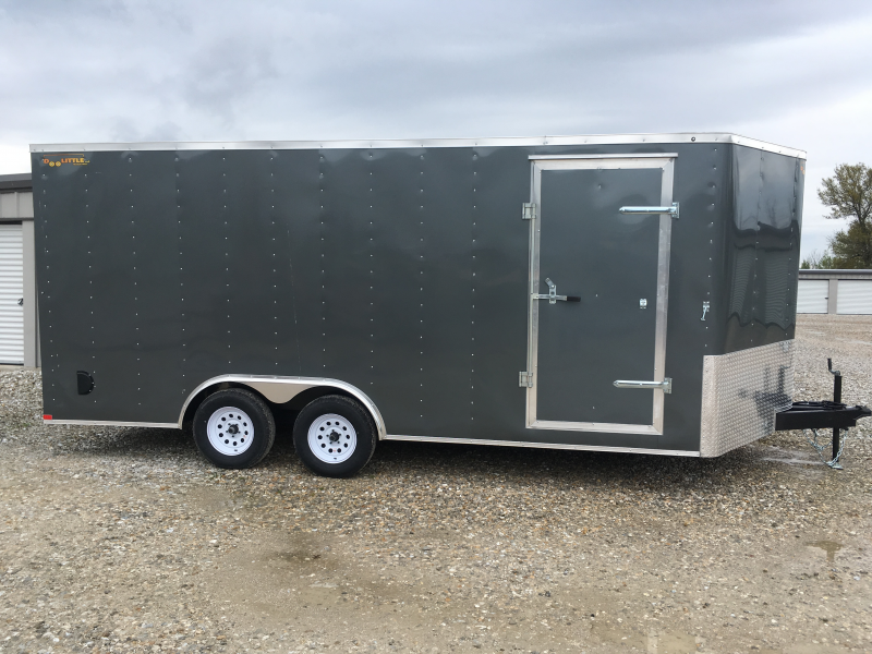 2019 Doolittle Trailer Mfg 8.5 x 18 T/A Enclosed Cargo Trailer REAR RAMP DOOR