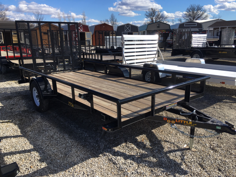 2018 DooLittle 77 x 14 PIPE-RAIL Utility Trailer