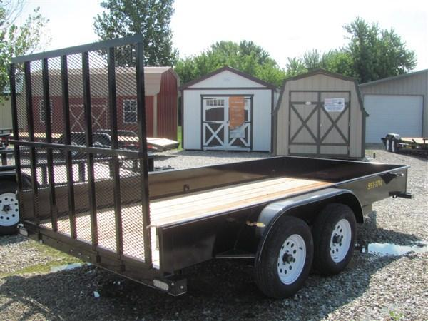 """New 2019 Doolittle 77"""" x 14 Solid Metal Sides TA Utility Trailer"""