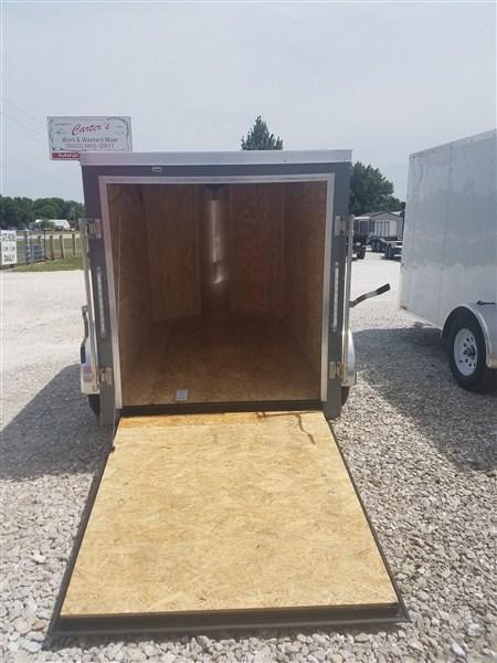 New 2018 Doolittle 5 x 8 Rear Ramp Door Enclosed Cargo Trailer