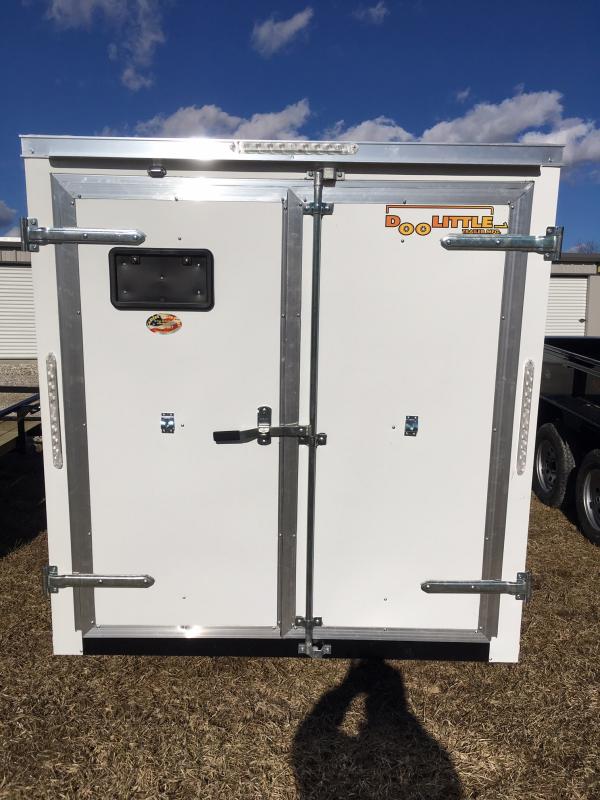2019 Doolittle 6' X 12' REAR DOUBLE DOORS Enclosed Cargo Trailer