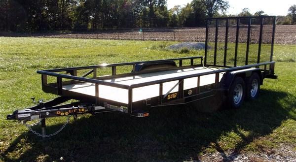 "New 2019 Doolittle 84"" x 18 Pipe Rail TA Utility Trailer"