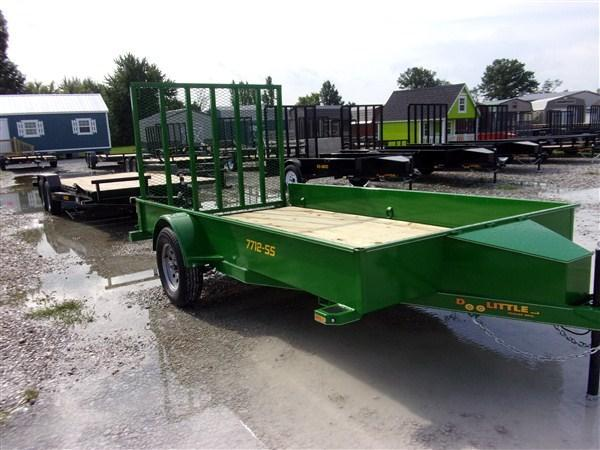 "New 2019 Doolittle 77"" x 12 Solid Metal Sides SA Utility Trailer"