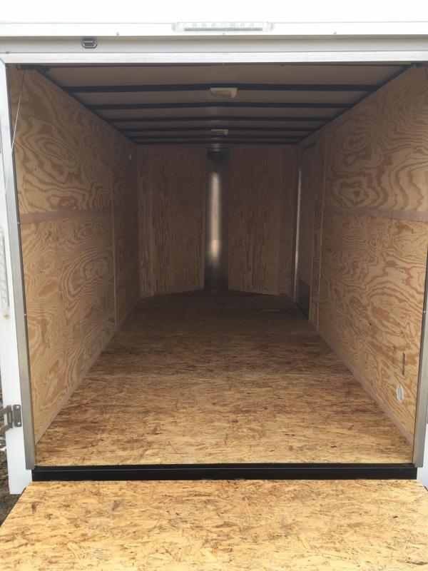 2019 DooLittle 7 x 14 Enclosed Cargo Trailer REAR RAMP DOOR