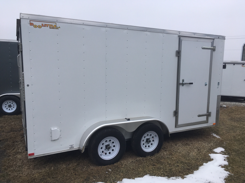 2019 DooLittle 7 x 14 Enclosed Cargo Trailer REAR RAMP DOOR