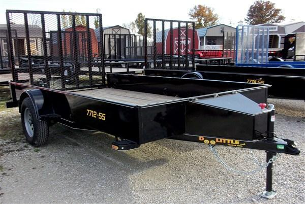 """New 2018 Doolittle 77"""" x 12 Solid Metal Sides SA SS Series Utility Trailer"""