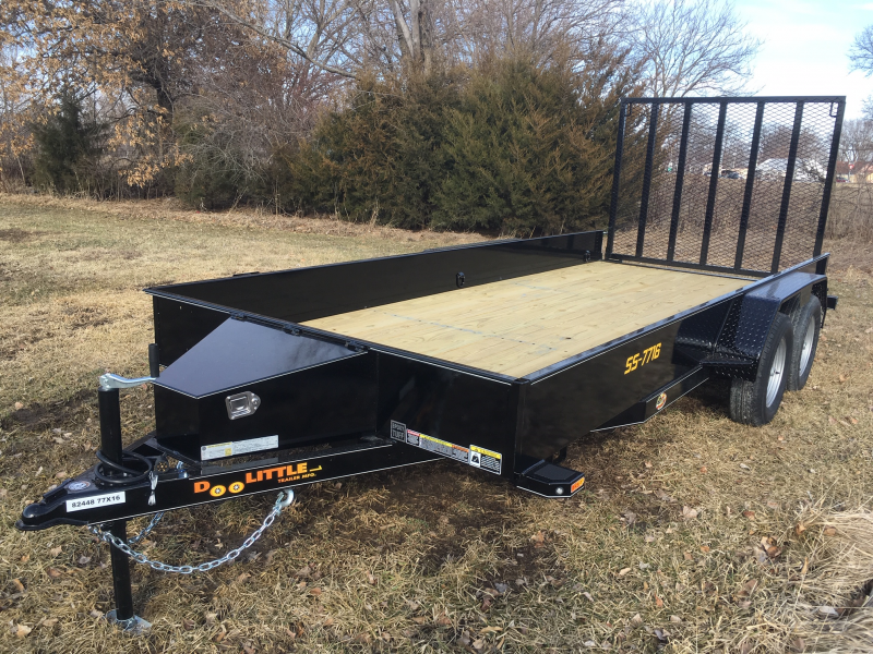 2019 Doolittle 77 x 12 PIPE RAIL Utility Trailer