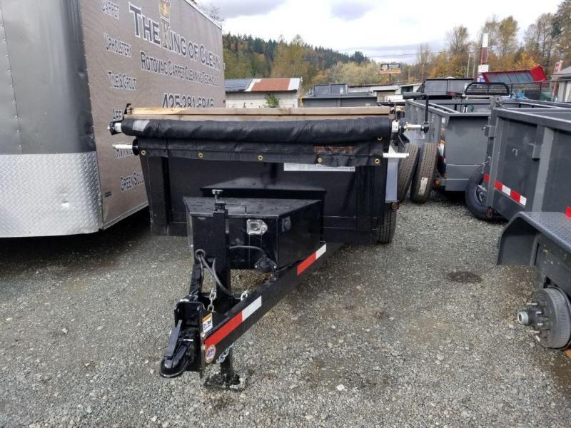 2019 ABU 5x10 Scissor Lift 7K Dump Trailer