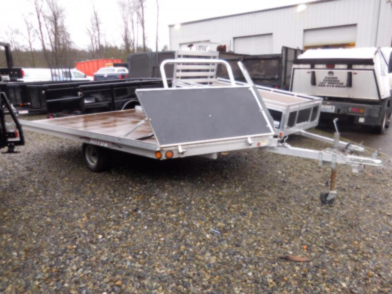 Used 2008 Triton 2 Place Open Tilt Snowmobile Trailer