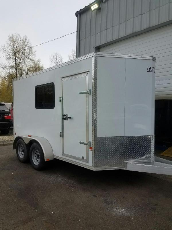 2019 Mission Enclosed Park & Play All-Aluminum Toy Hauler Trailer
