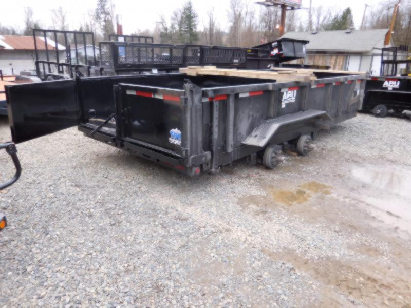 2018 ABU 7x16 14K Industrial Dump Trailer w/ Rear Spreader & Double Doors