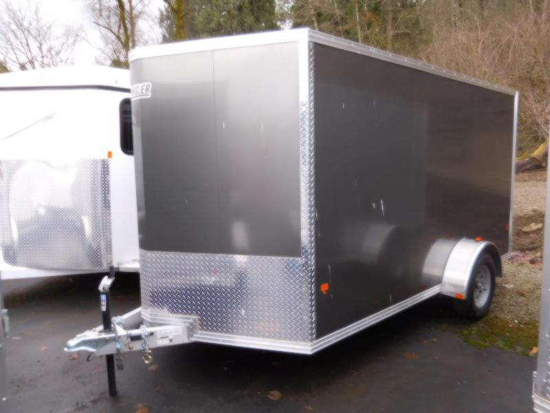 2017 EZ Hauler 7x12 Enclosed Cargo Trailer with Rear Ramp