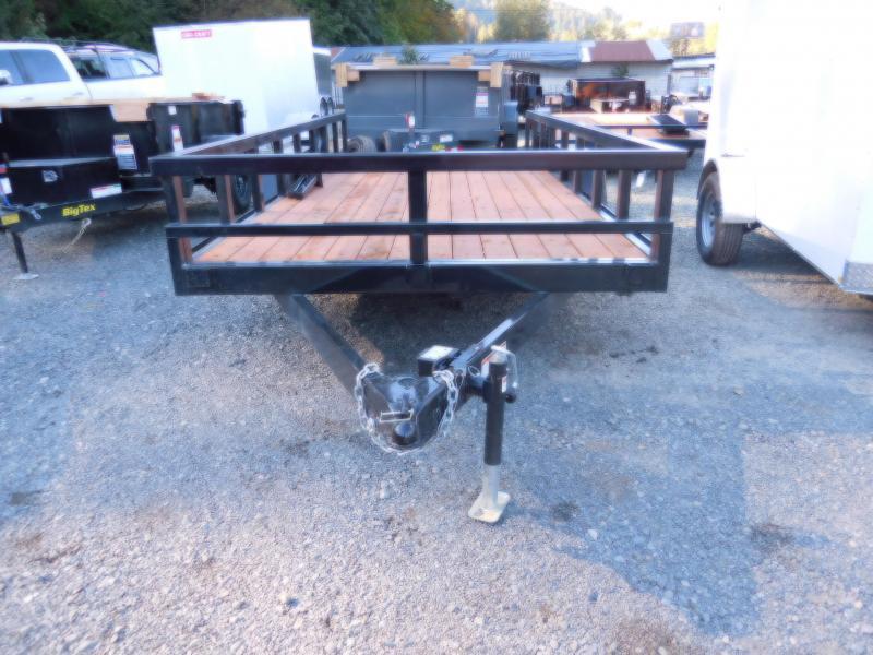 Used Customized 2018 Iron Eagle 7x16 7000 Series Flatbed Trailer