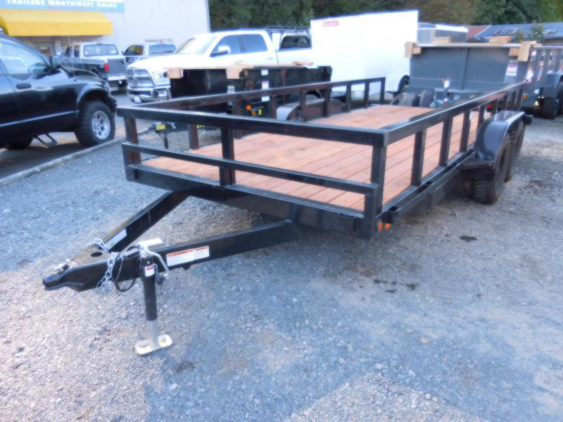 Used Customized 2018 Iron Eagle 7x16 7000 Series Flatbed Trailer