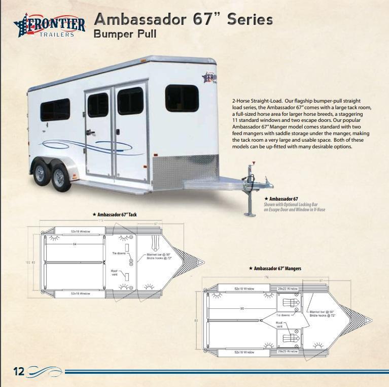 Custom Frontier All-Aluminum Horse Trailers - Bumperpull - Gooseneck