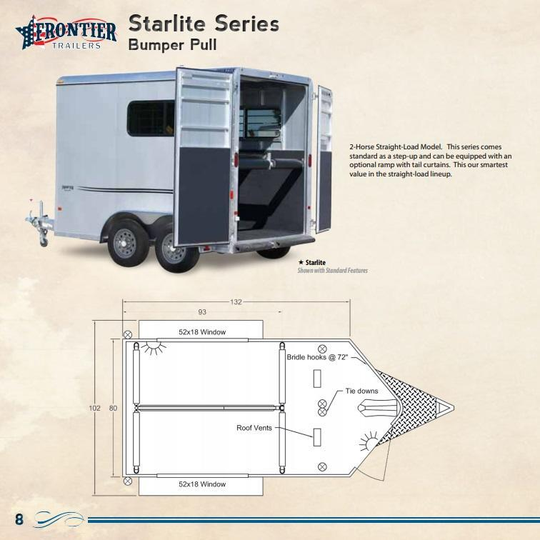 Custom Frontier All Aluminum Horse Trailers Bumperpull Gooseneck