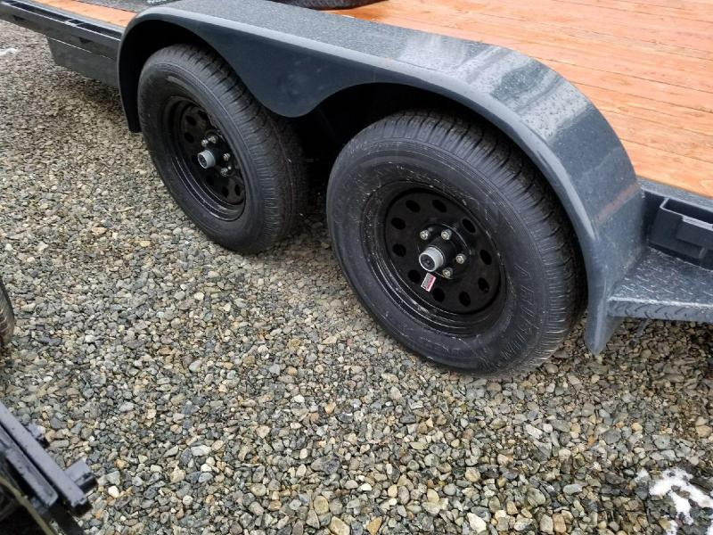 2018 Iron Eagle 7000 Series 7x16 Flatbed Trailer - Ramps Included