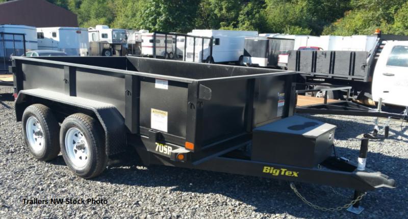 2018 Big Tex Trailers 70SR 5x10 Single Ram Dump Trailer