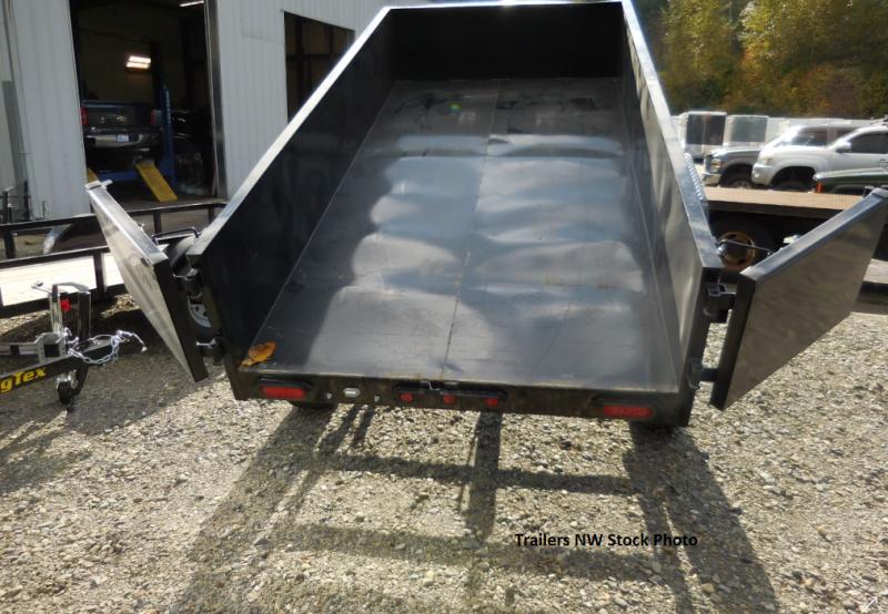 2019 Big Tex  14LX 7x14 Dump Trailer - Scissor Lift - 45 Degree Dump & Ramp Kit