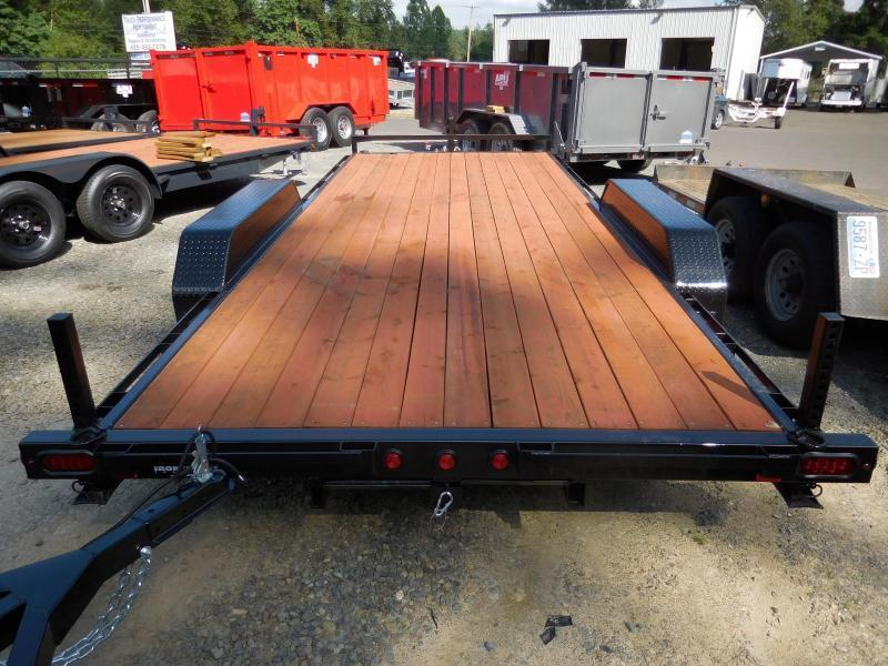2018 Iron Eagle 7X18 10k Series Flatbed Trailer - Ramps Included