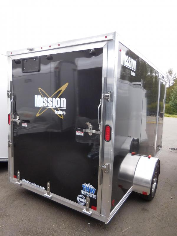 2017 Mission 6x12 All Aluminum Cargo Trailer with Rear Ramp