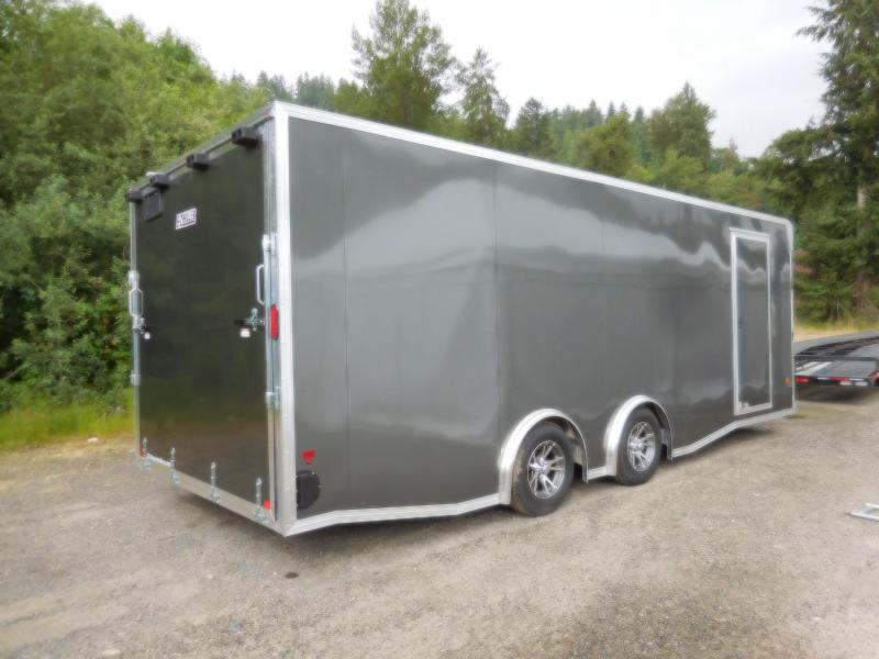 Custom 2018 EZ Hauler 8x22 7K Torsion Spread Axle Enclosed Car Hauler Cargo Trailer