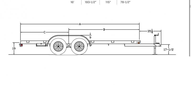 2019 Big Tex 60CH 7x16 Flatbed Car Hauler Trailer