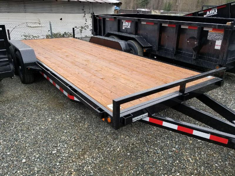 2018 Iron Eagle 7x18 10k Series Flatbed Trailer with Ramps