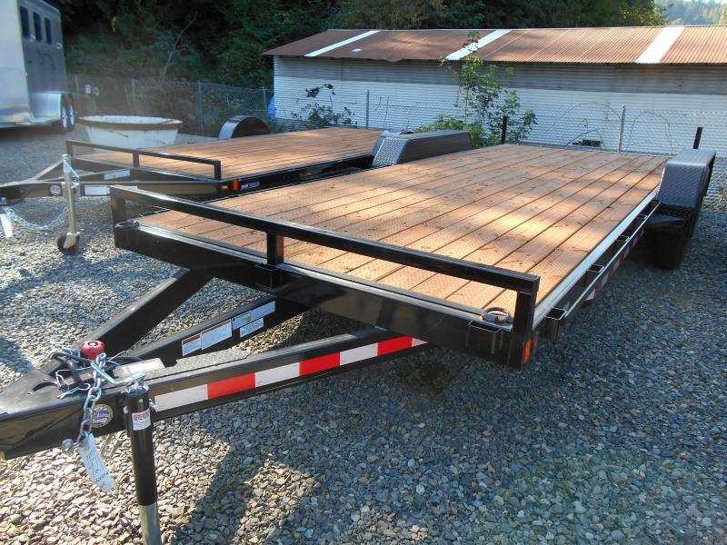2019 Iron Eagle 7x18 Dovetail 10K Series Flatbed Trailer