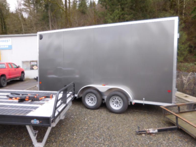 2018 EZ Hauler 7x16 Enclosed Cargo Trailer with Rear Barn Doors