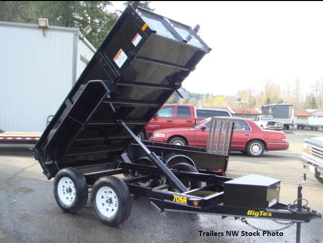 2019 Big Tex Trailers 70SR 5x10 Single-Ram Dump Trailer