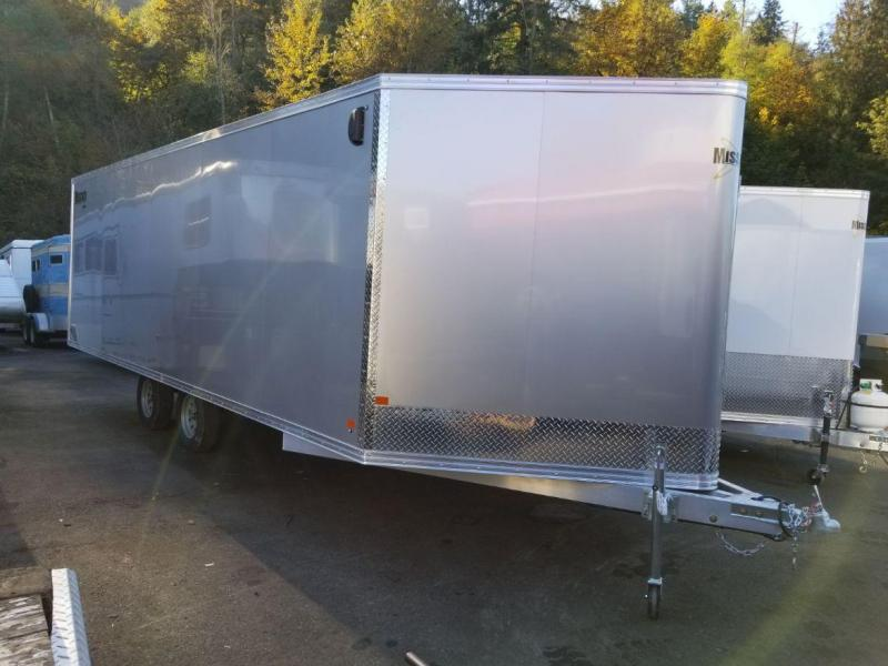 2019 Mission V-Nose 101x22 Drive In-Drive Out All-Aluminum Snowmobile Trailer