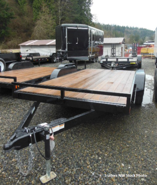 2019 Iron Eagle 7x14 7K Flatbed Trailer