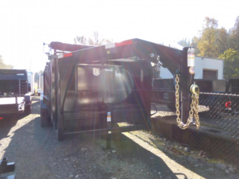 2019 ABU 7x18 14K Triple Axle Gooseneck Dump Trailer w/ 4' Sides