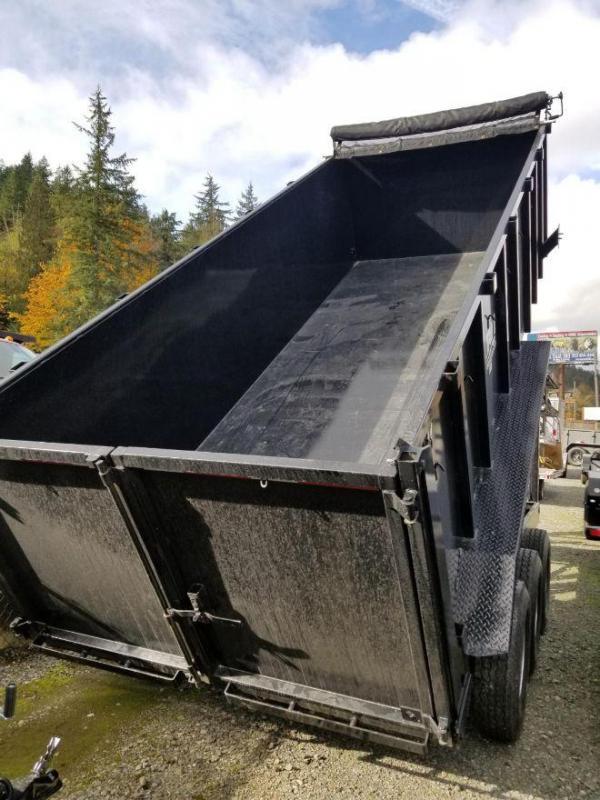 2019 ABU 7x18 21K Triple Axle Gooseneck Dump Trailer w/ 4' Sides