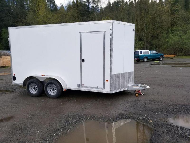 2018 EZ Hauler 7x14 All-Aluminum Enclosed Cargo Trailer with Power Pkg
