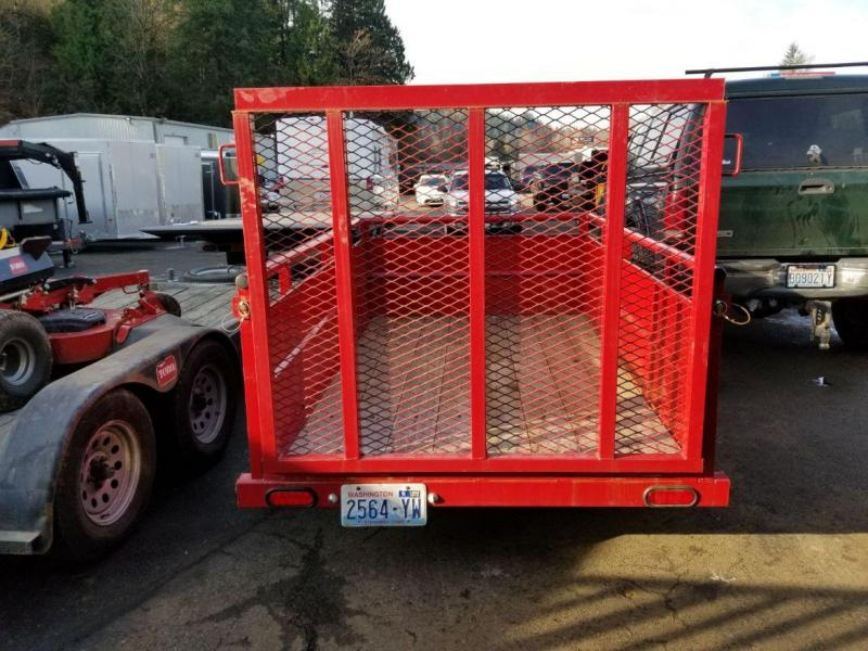 Used 2014 Big Tex Trailers 5x8 30SV Utility Trailer with Rampgate