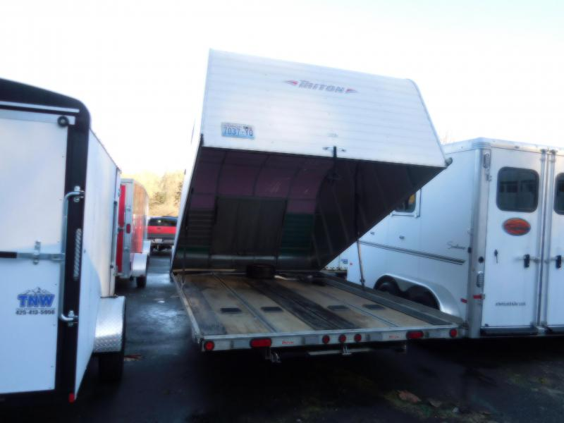 Used 2007 Triton 2 Place Elite Enclosed Snowmobile Trailer