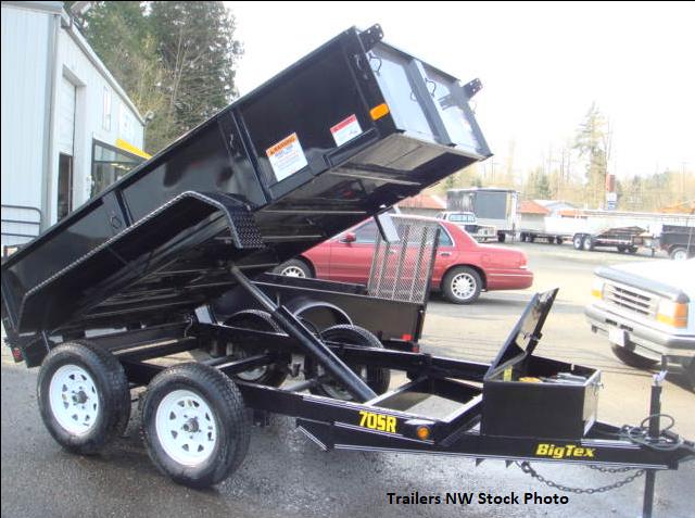 2018 Big Tex 70SR 5x10 7K Dump Trailer - Double Rear Doors
