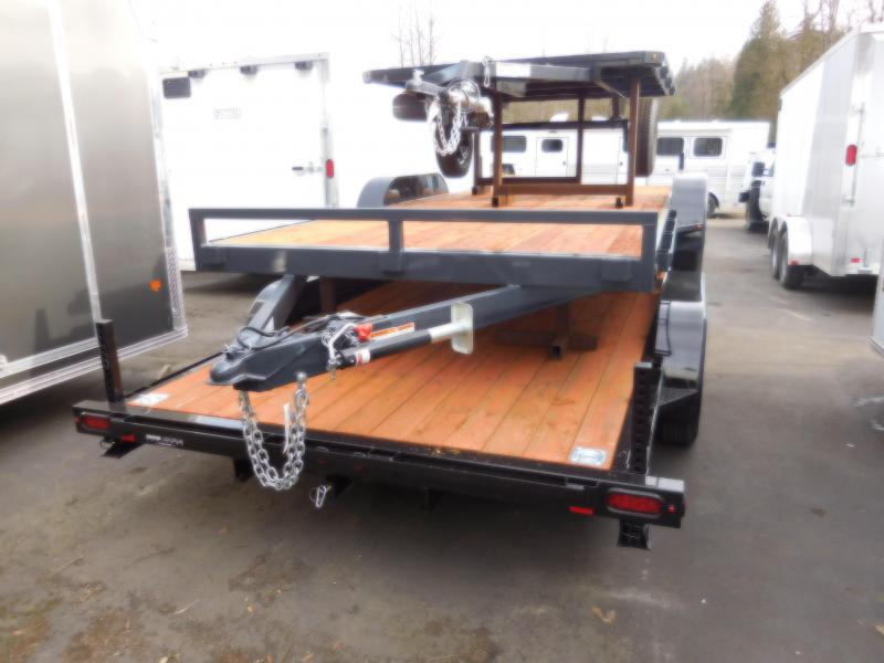 2018 Iron Eagle 7x16 7K Flatbed Trailer with Ramps